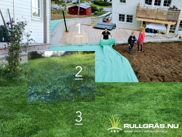 Roll out culvivated turf biotextil